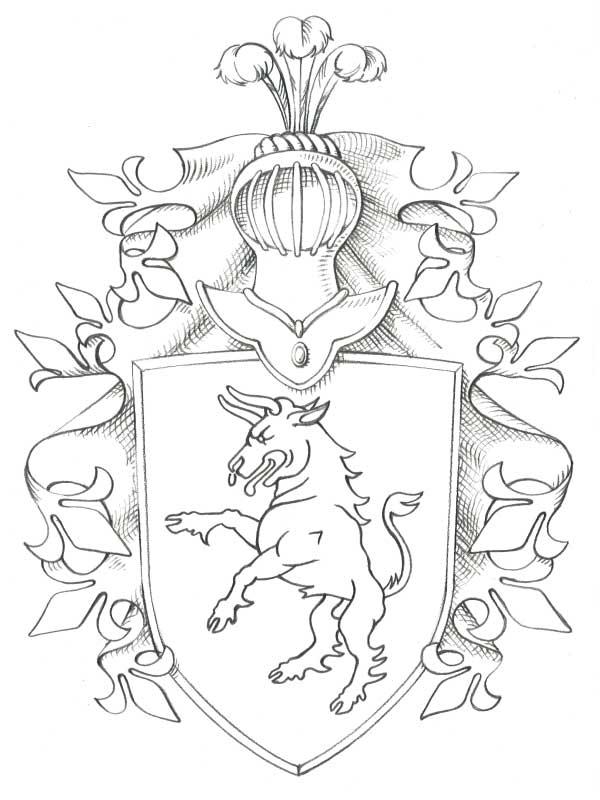 heraldisk skjold 2 tegnebrættet-dk