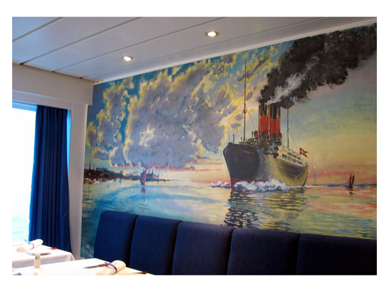 DFDS vægmaleri