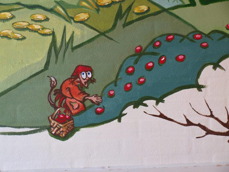 Detalje fra vægmaleri