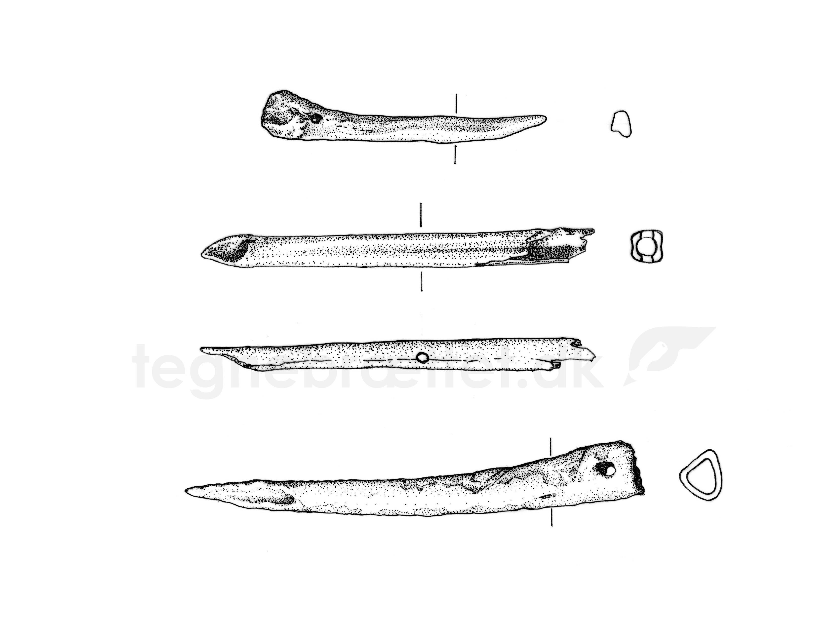 lansespidser af knogler